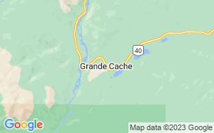 Map of Grande Cache Municipal Campground