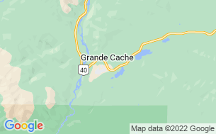 Map of Grande Cache Municipal Campground