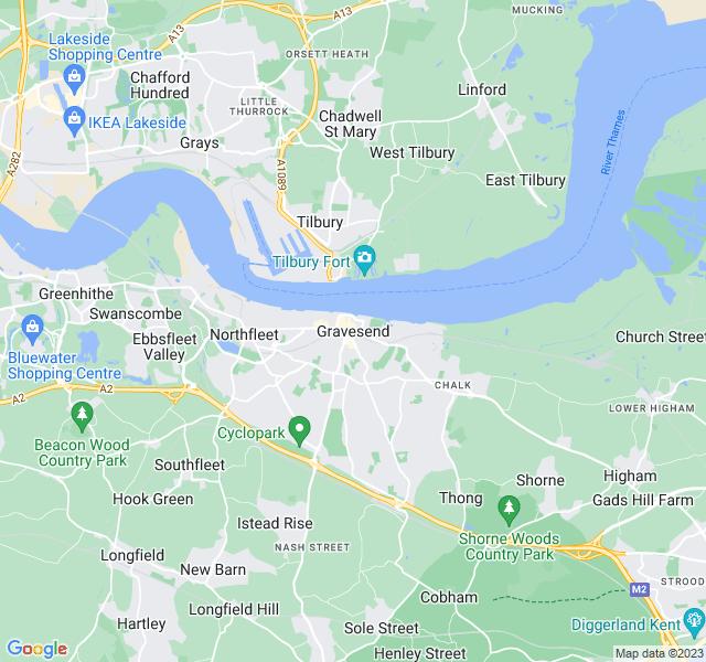 Website Designer Gravesend Google map of location