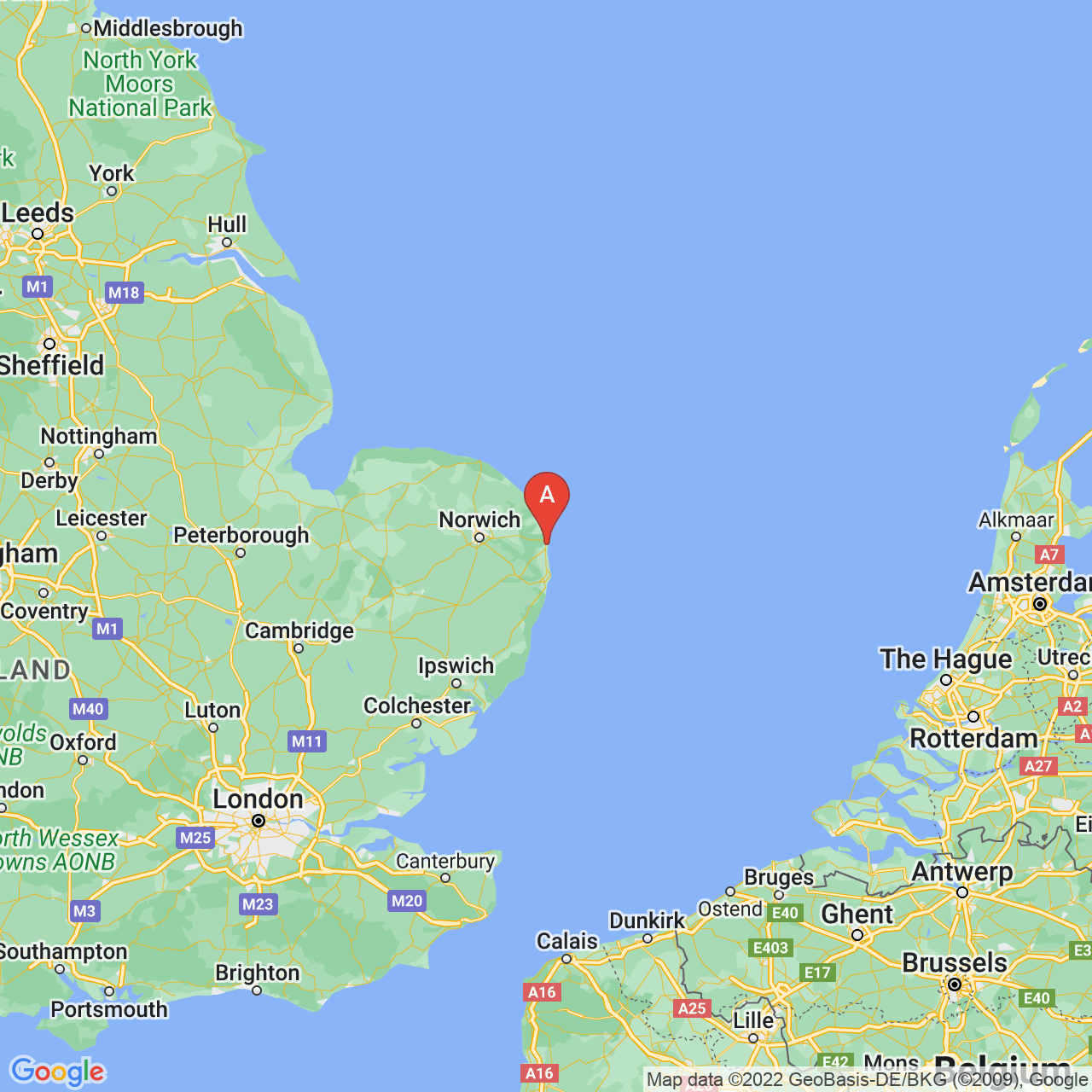 Great Yarmouth, England Map