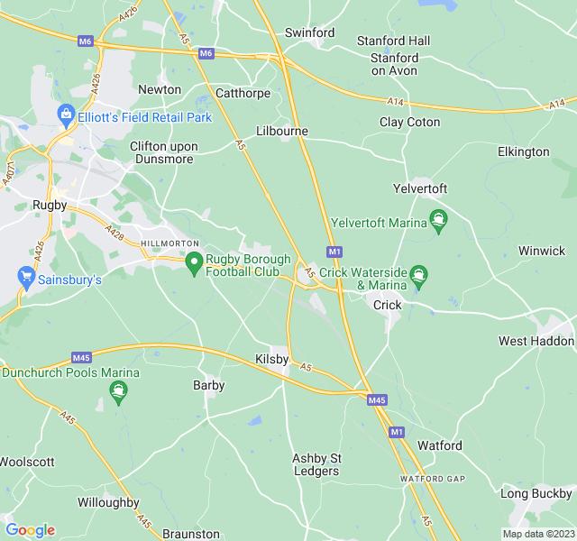 Website Designer Green Google map of location