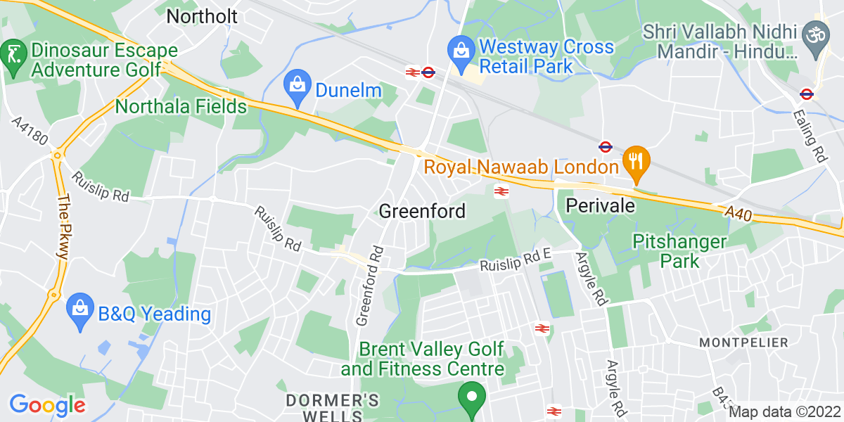 Map: Customer Delivery Driver job role in Greenford