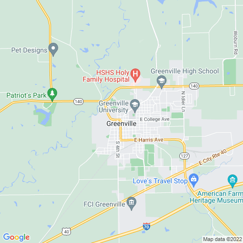 Map of Greenville, IL