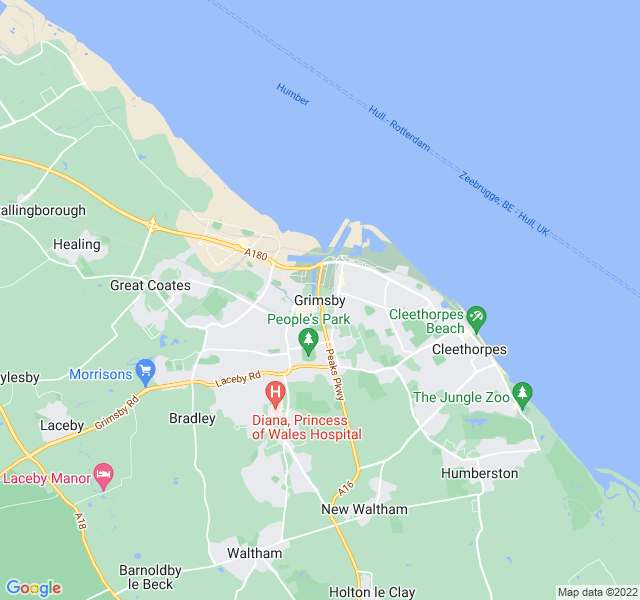 Website Designer Grimsby Google map of location