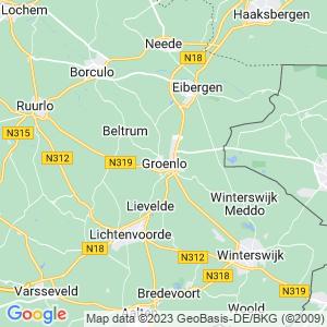 Werkgebied van onze bestrijder in Groenlo