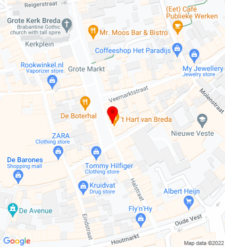 Google Map of Grote Markt 10 4811 XR Breda