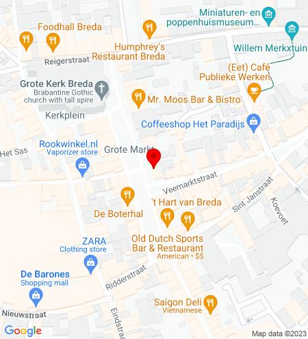 Google Map of Grote Markt 18 4811 XR Breda