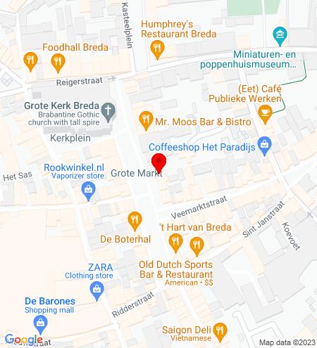 Google Map of Grote Markt 24 4811 XR Breda