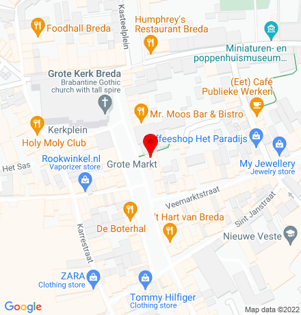 Google Map of Grote Markt 26-28 4811 XR Breda