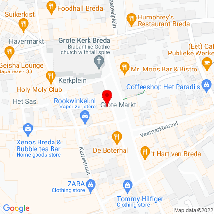 Google Map of Grote Markt 35 4811 XP Breda