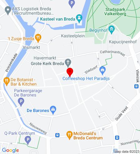 Google Map of Grote Markt 39-41 4811 XP Breda