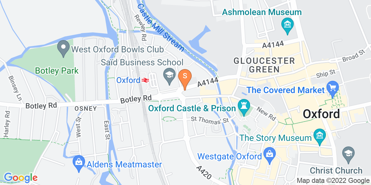 Google Map of Ground Floor, Oxford Hotel, Park End Street Oxford OX1 1HR