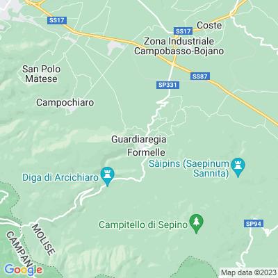 cartina Guardiaregia