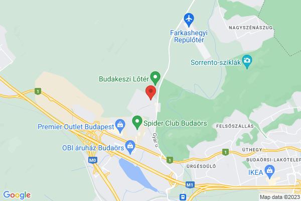 Google Map of Gyár utca 2, 2040 Budaörs