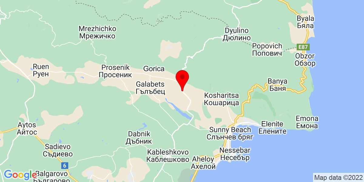 Google Map of Gyulyovtsa