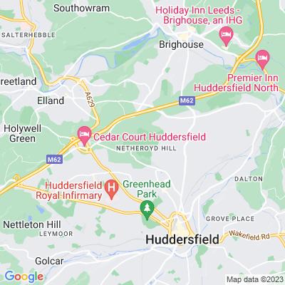 Fixby Hall, Huddersfield Location