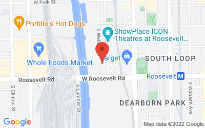Map of South Loop Roosevelt