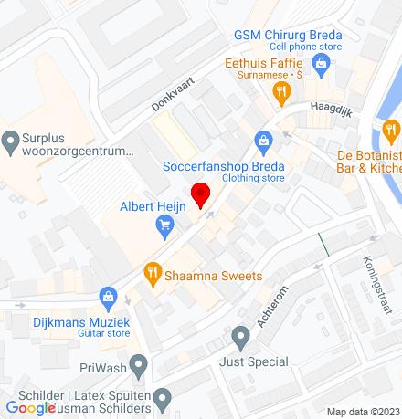 Google Map of Haagdijk 80 4811 TV Breda