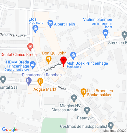 Google Map of Haagsemarkt 30 4813 BB Breda