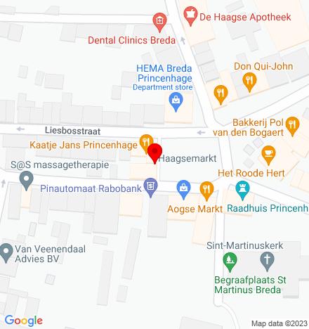 Google Map of Haagsemarkt 8 4813 BA Breda