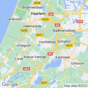 Werkgebied van onze bestrijder in Haarlemmermeer