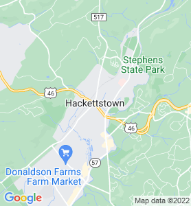Hackettstown NJ Map