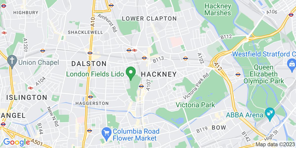 Map: Nursery Nurse position in Hackney