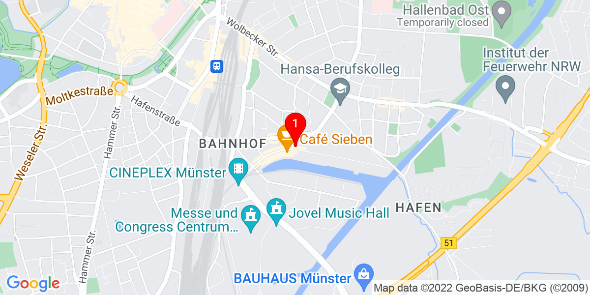 Google Map of Hafenweg 15, Münster