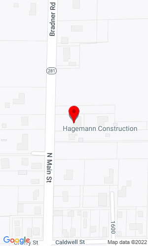Google Map of Hagemann Construction 12140 Bradner Rd, Bradner, OH, 43406