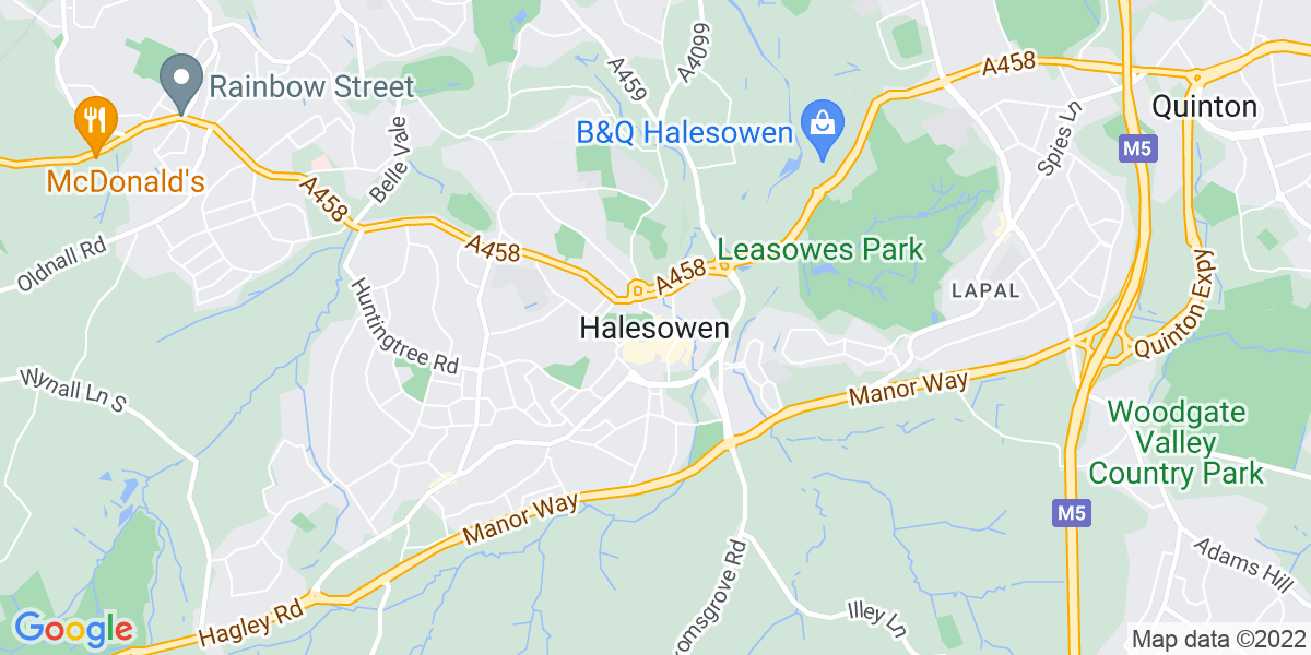 Map: Private Client Solicitor role in Halesowen