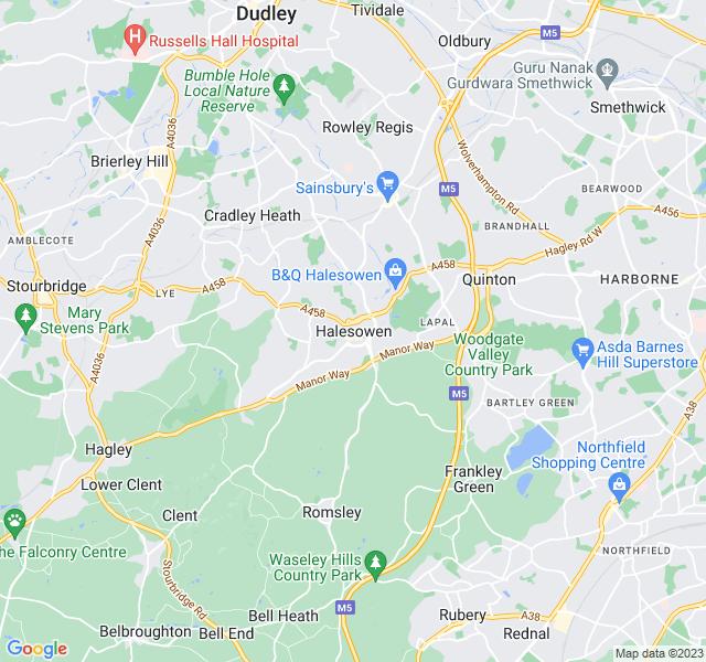 Website Designer Halesowen Google map of location