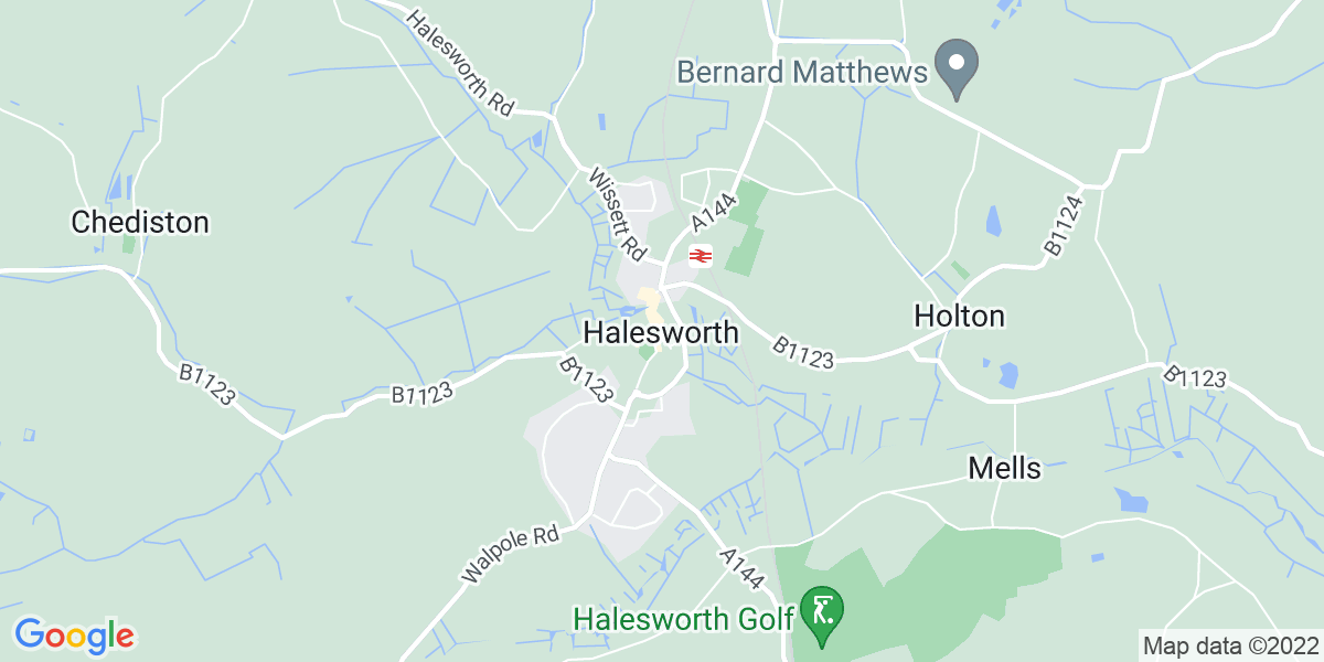 Map: Panel Beater position in Halesworth