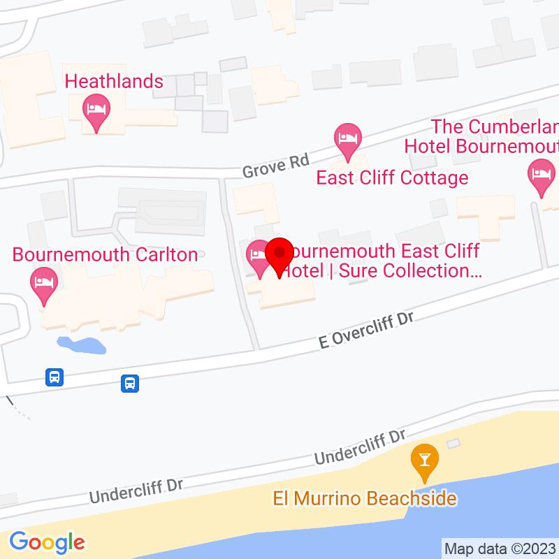 Google Map of Hallmark Hotel Bournemouth