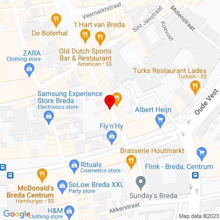 Google Map of Halstraat 1BIS 4811 HV Breda