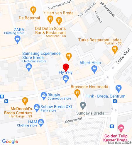 Google Map of Halstraat 32 4811 HX Breda