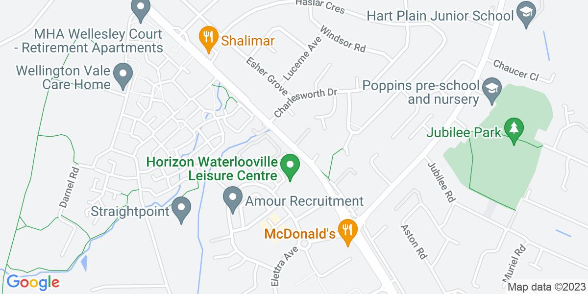 Google Map of Hambledon RoadWaterlooville Hampshire PO7 7UA