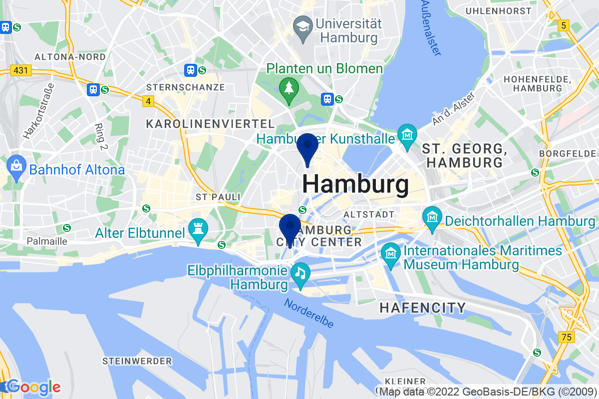 Google Map of bdp Hamburg