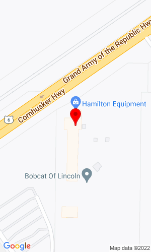Google Map of Hamilton Equipment 8605 Cornhusker Hwy, Lincoln, NE, 68507-9740