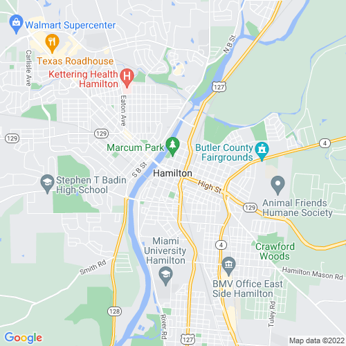 Map of Hamilton, OH