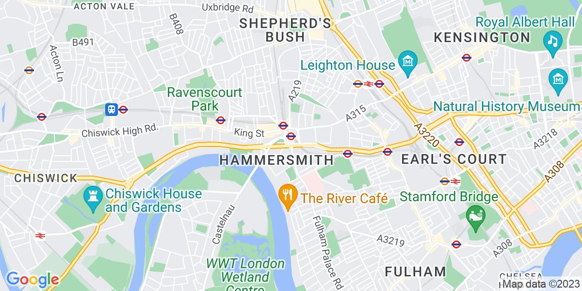 Map: Medical Secretary job in Hammersmith