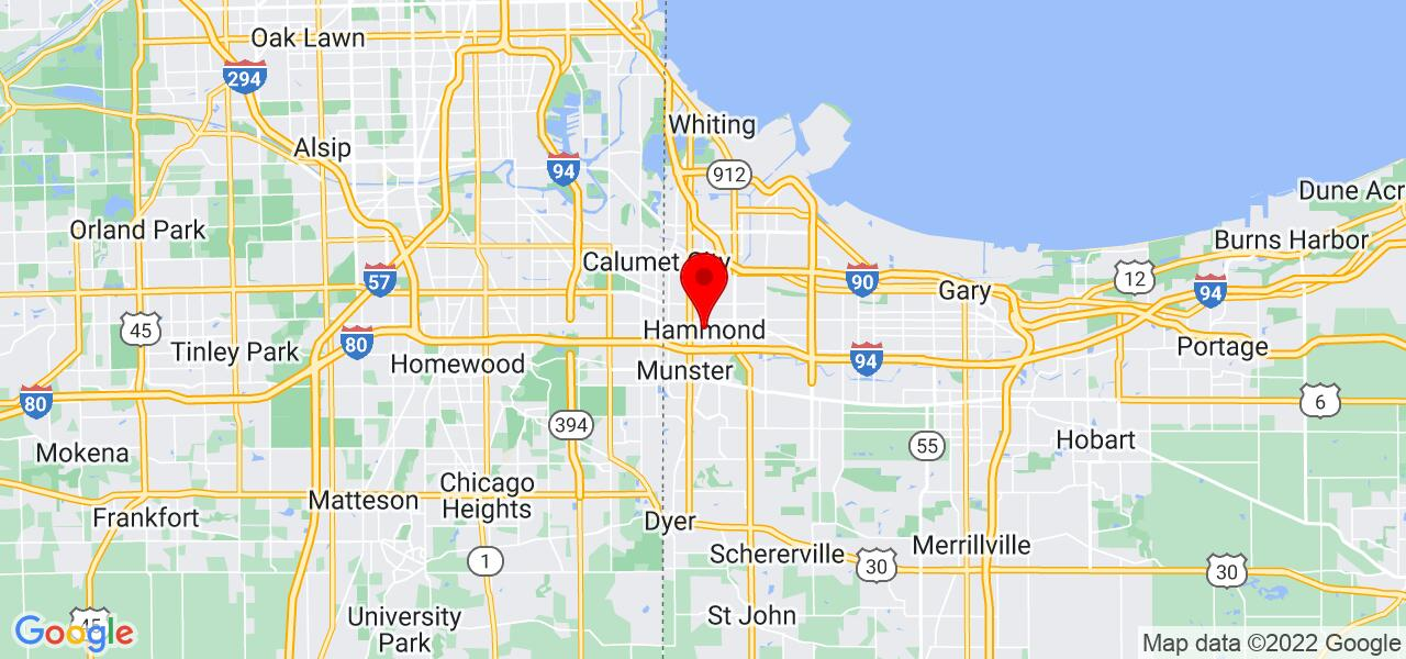 Google Map of Hammond,IN