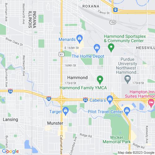 Map of Hammond, IN