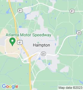 Hampton GA Map