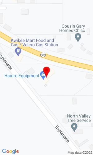Google Map of Hamre Equipment Co. 3930 Esplanade, Chico, CA, 95973