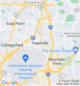 Hapeville GA Map