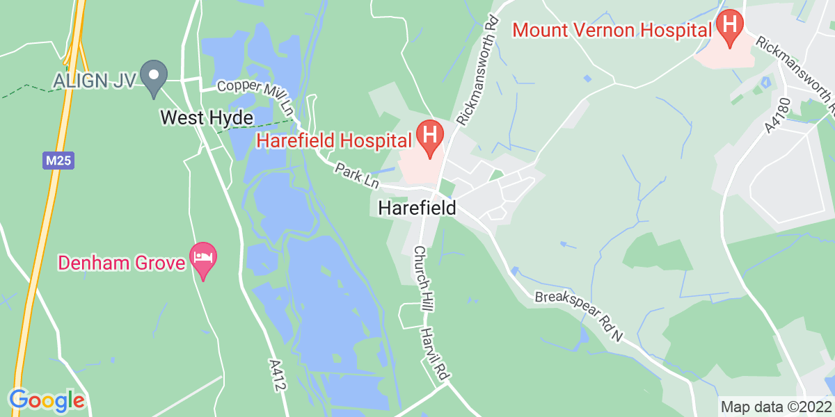 Map: Account Manager role in Harefield