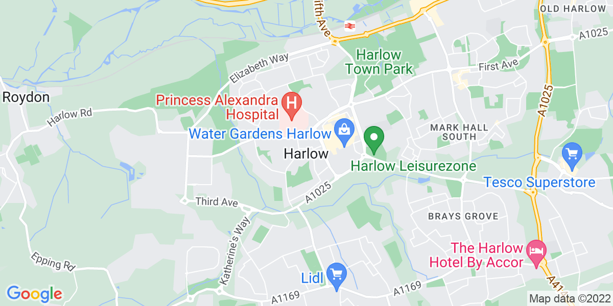 Map: Credit Controller position in Harlow