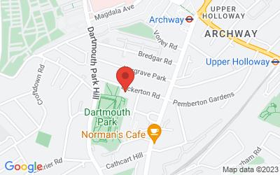 Map of Harriet Wilde Wedding Shoes, Bickerton Road, London, UK