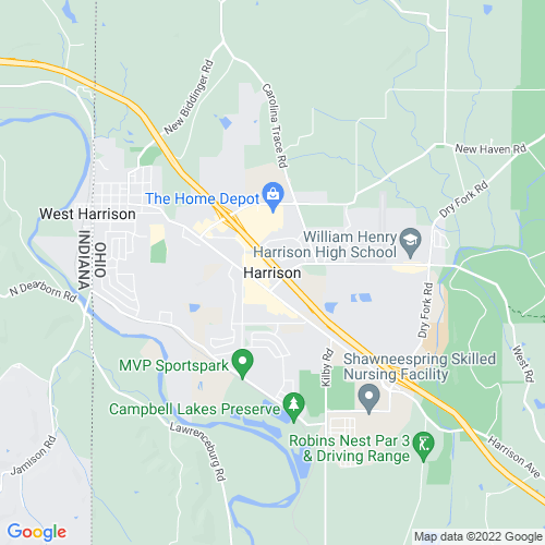 Map of Harrison, OH