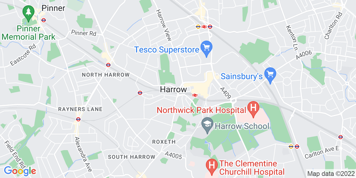 Map: Pupil Referral Unit - Teaching assistant in  position in Harrow